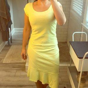 NWT Yellow asymmetrical cotton dress